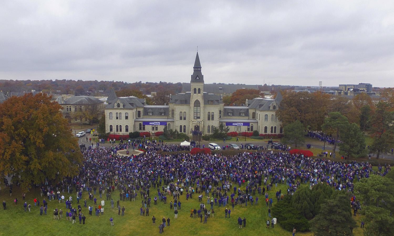 Watch Replay: Community unity walk at Kansas State