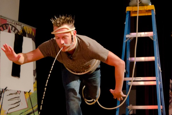 Brian Brushwood's bizarre magic wows audience