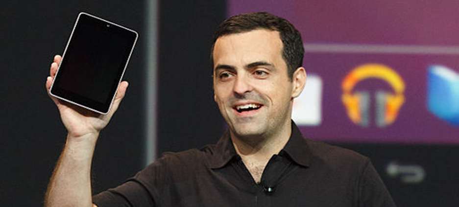 Photo courtesy of Wikimedia Commons  Hugo Barra, vice president of Android product management, unveils the Nexus 7 tablet in the 2012 Google I/O conference in July. At the 2013 conference, Google is expected to unveil updates on tablets as well as news on Google Glass, glasses designed to act as a computer display.