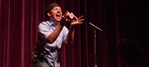 Magician entertains students with humor, magic in Forum Hall