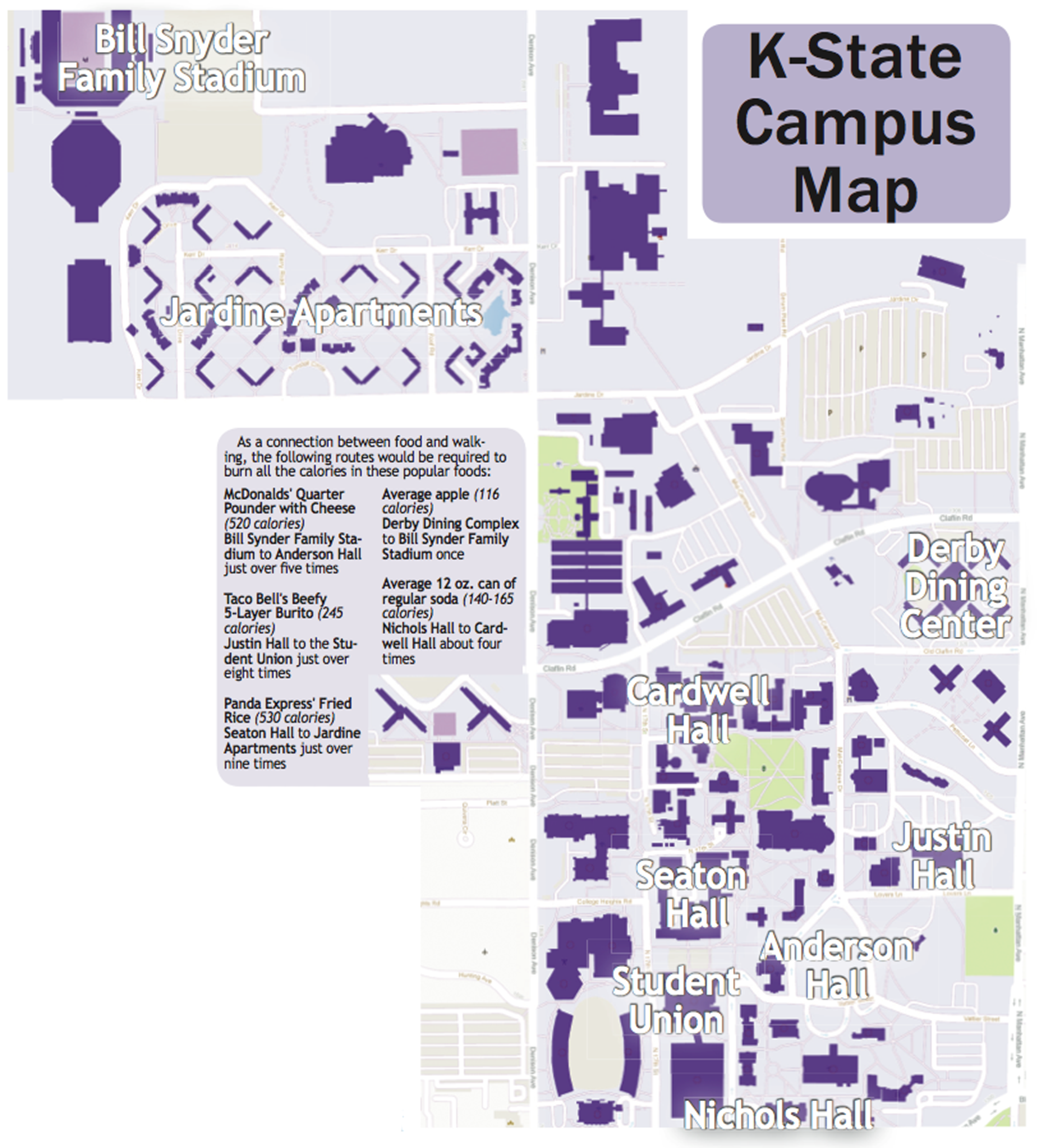 Club creates campus calorie map; mobile app in works | The Collegian