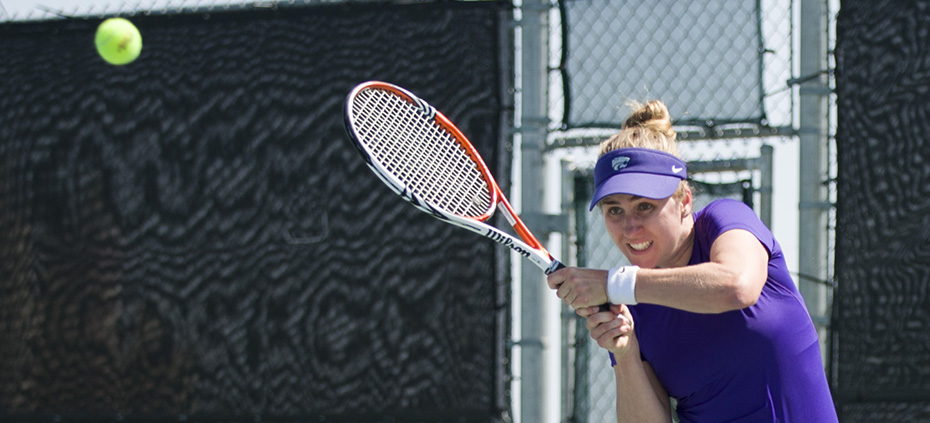 Emily DeShazer | The Collegian Junior tennis player, Petra Niedermayerova fell to Longhorn Breaunna Addison on Saturday after defeating Texas Tech's Samantha Adams on Friday. Niedermayerova became the third most winningest Wildcat in singles play in a season in school history.  The Wildcats will play matches against Iowa State and West Virginia this weekend to finish the regular season.