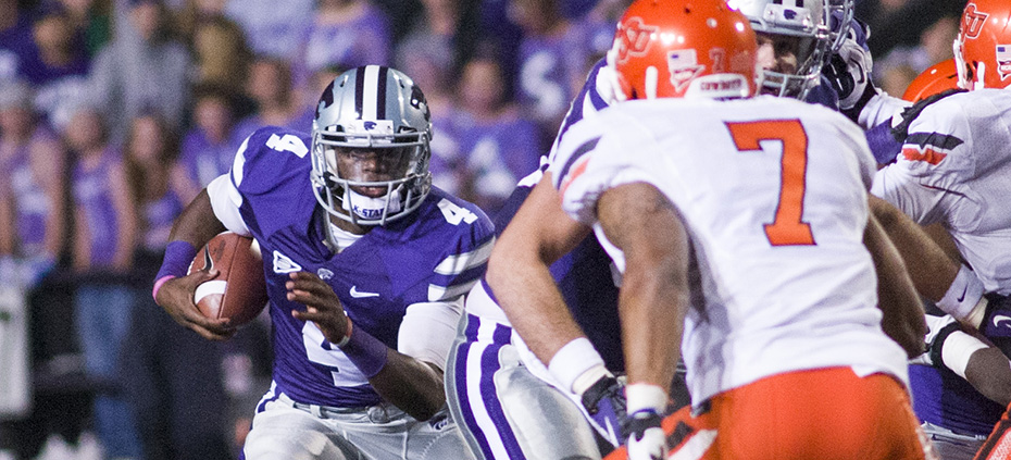 Emily DeShazer | Collegian Sophomore Daniel Sams will look to fill the shoes of Heisman Trophy finalist Collin Klein next season. Sams is in a deadlock race with junior college transfer Jake Waters, who is one of the nation's most highly-touted junior college quarterbacks.