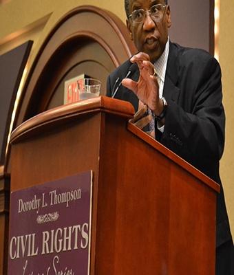 Speaker argues recent court rulings detrimental to voter's rights