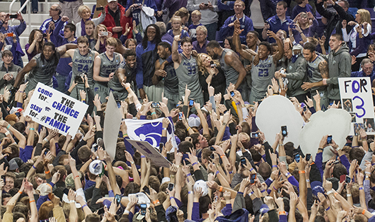 K-State upsets No. 7 Kansas in overtime thriller