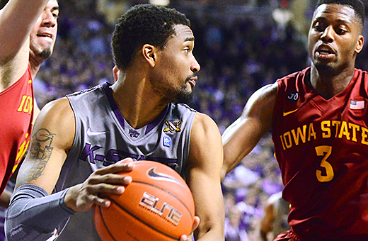 K-State wins 15th straight home game, beats No. 15 Iowa State 80-73
