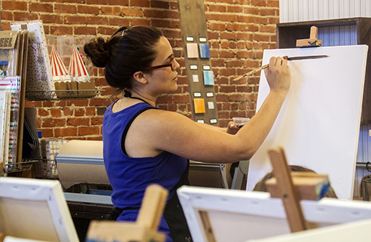 Moseying around Manhattan: Studio's Canvas and Cork event is a 'Straight Upp' good time