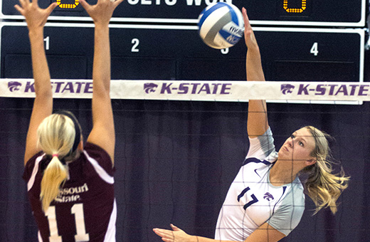 K-State volleyball wraps up nonconference play at Michigan