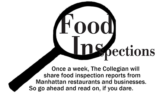 Weekly food inspections 9/2