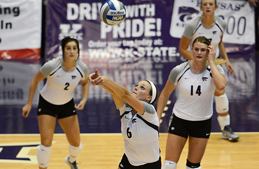 K-State volleyball prepares for weekend trip to Southern Illinois