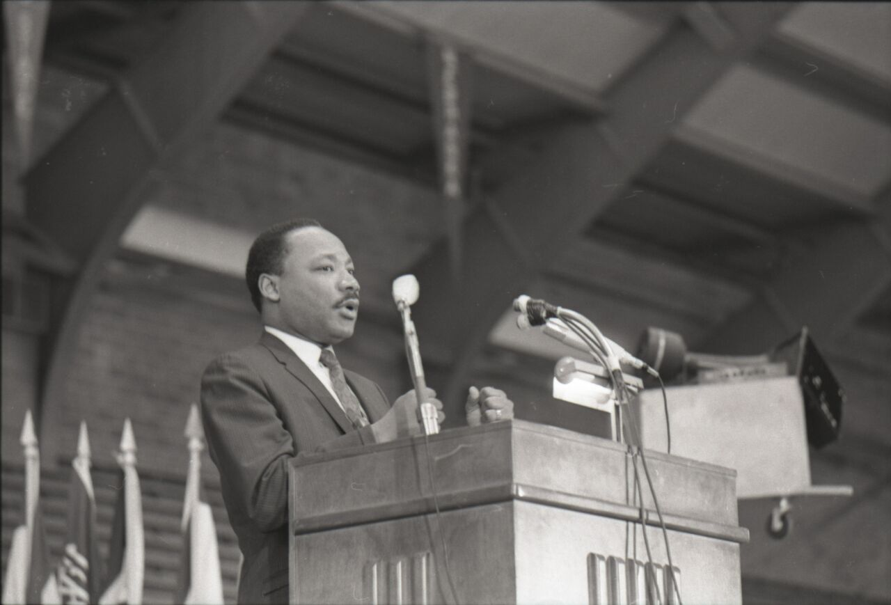 From The Archives Martin Luther King Jr Brings Message Of