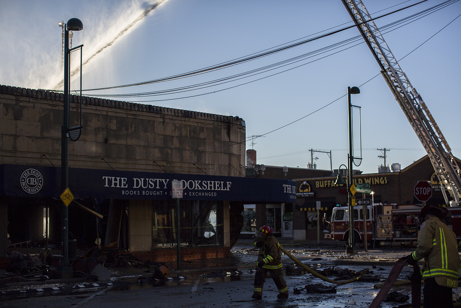 Firefighters Work To Contain The Fire Inside Dusty Bookshelf On March 2 2017 Emily Starkey