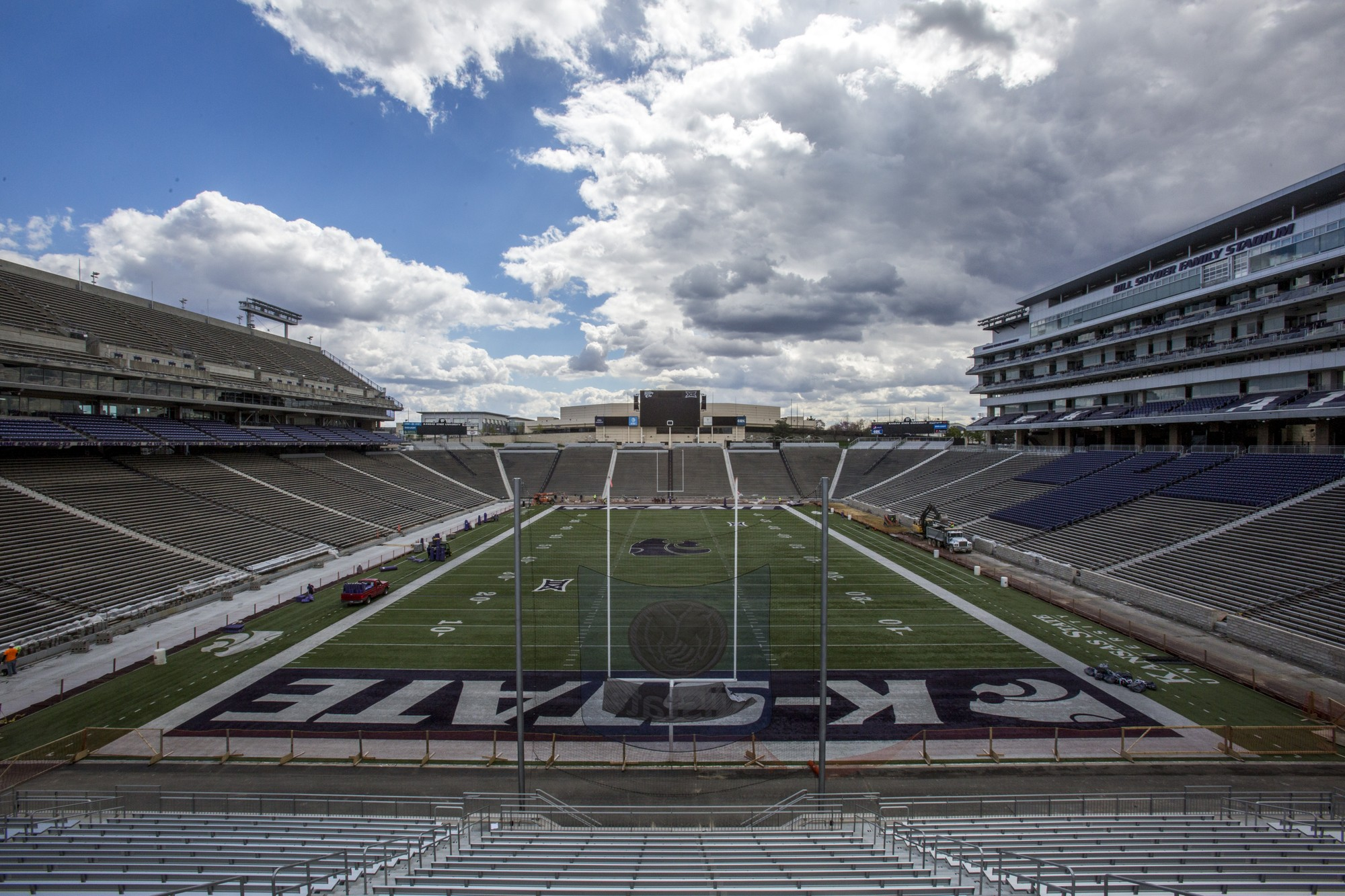 Construction Continues At Bill Snyder Family Stadium The