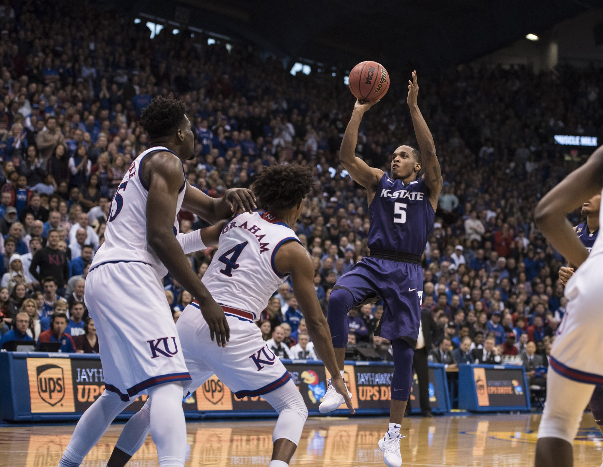 Kansas State vs Kansas basketball