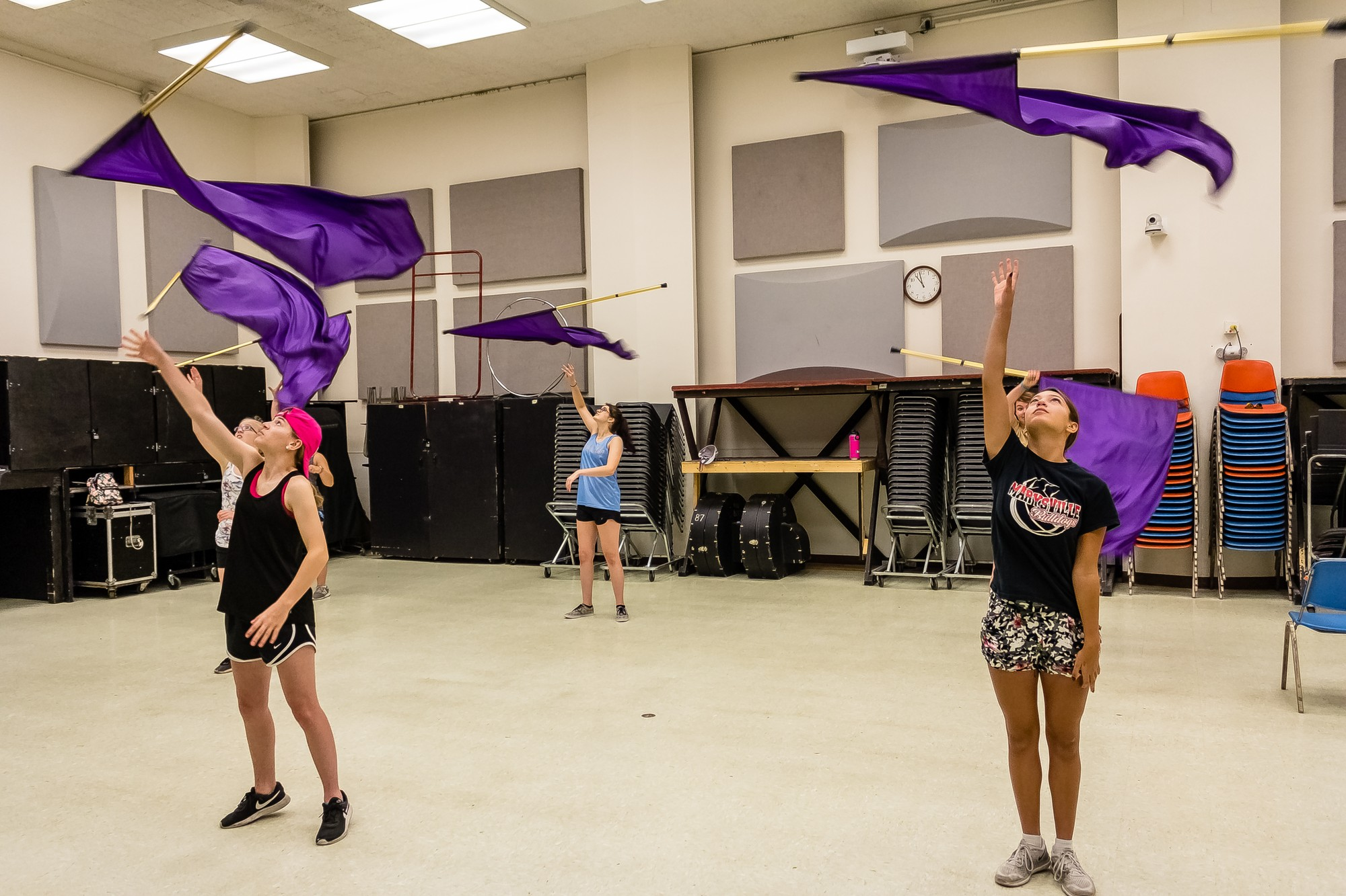 High School Students Learn Leadership Marching Band Skills At K