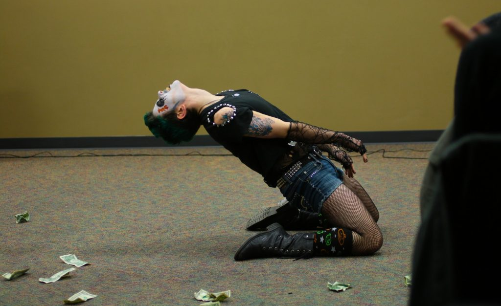 Drag entertainer, Sir Manther, performs at K-State's Amateur Drag Show on February 28, 2020.