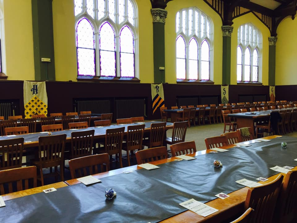 Harry Potter-themed event in the Great Hall.