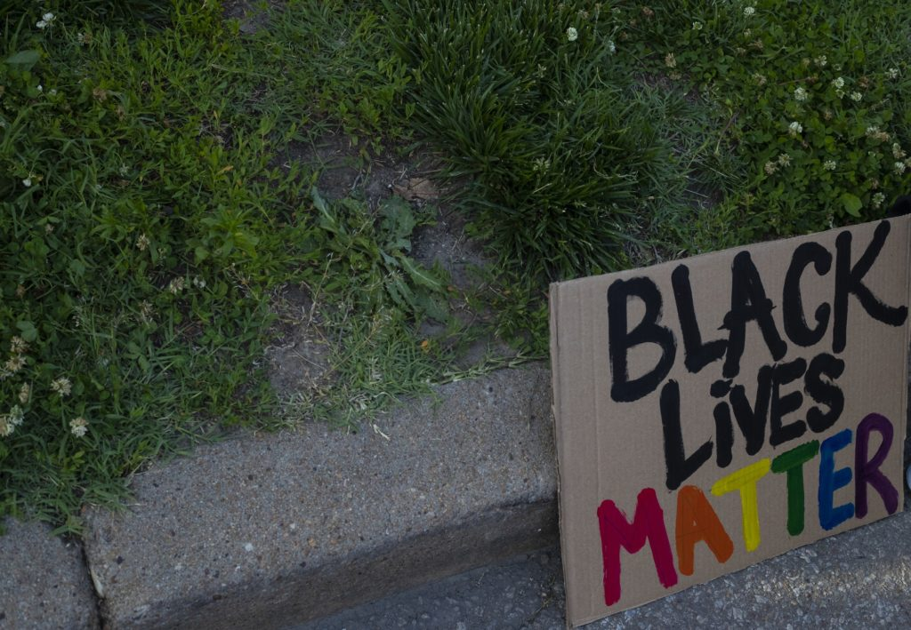 For the third time in less than a week, Manhattan locals gathered to protest against police brutality following the officer-involved death of George Floyd in Minnesota. Local demonstrators join thousands across the United States who have been protesting for days. (Dalton Wainscott   Collegian Media Group)