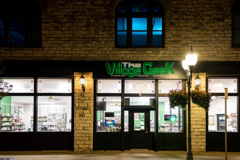 The Village Geek, a tabletop gaming store located at 105 N 3rd St. in Manhattan. (Dylan Connell | Collegian Media Group)