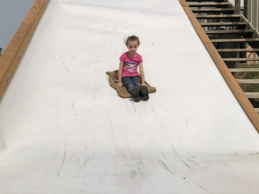 A fan favorite among the opening day visitors was the giant slide.