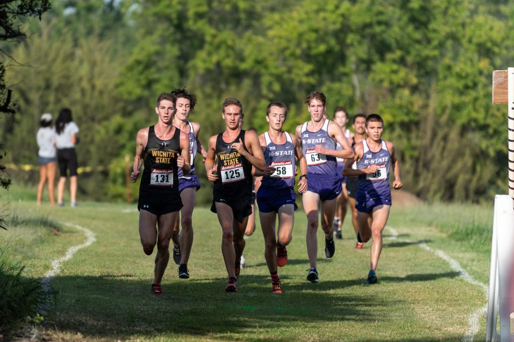 The K-State men's cross country team compete alongside Wichita State during the J.K. Gold Classic in Augusta, KS on September 1, 2018. (Alex Todd | Collegian Media Group)