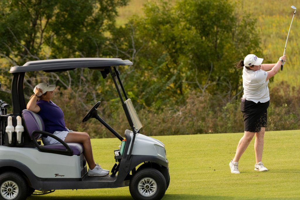 The women's golf team practices at Colbert Hills Golf Course on Thursday, Sept. 17, 2020. (Dylan Connell   Collegian Media Group)