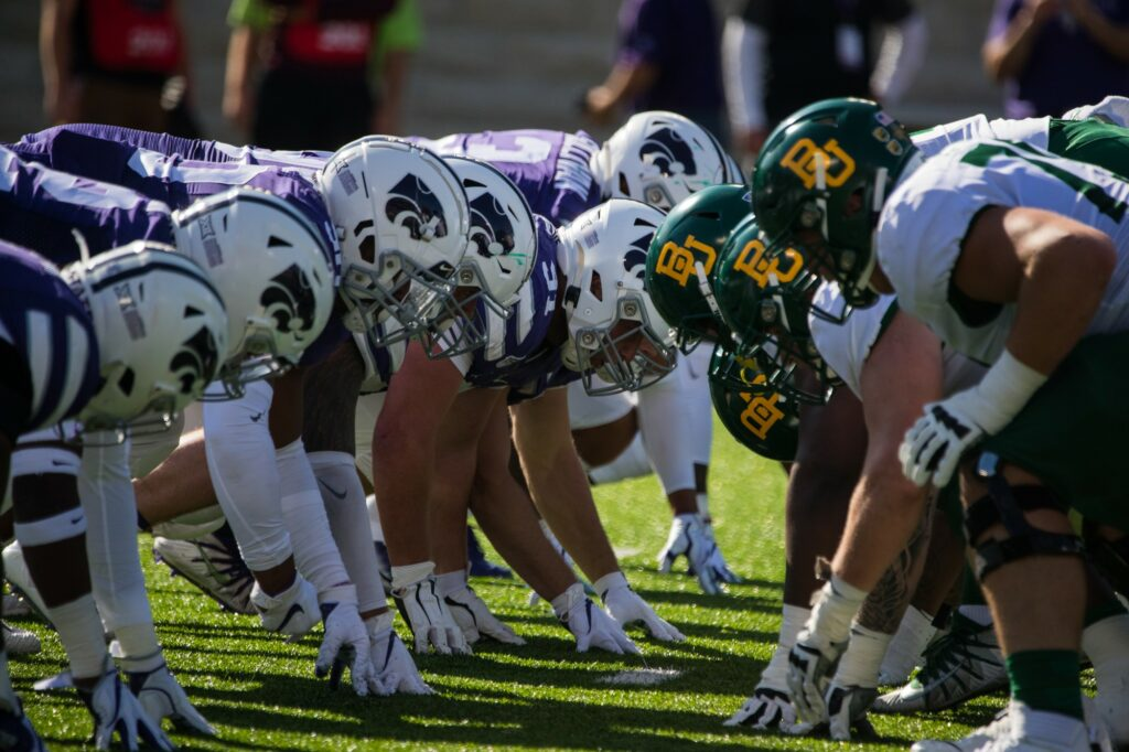 K-State lines up against Baylor in last year's 31-12 loss to the Bears at Bill Snyder Family Stadium. (Collegian Media Group I Dalton Wainscott)