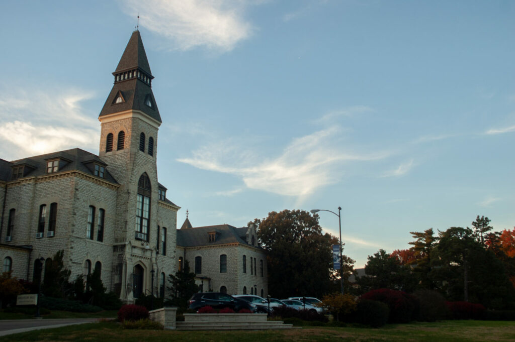 Anderson Hall, pictured here, is the administration building of Kansas State. It is home to the Office of the President, the Office of Student Life and other administrative offices. The building is one of the oldest on campus as one of the three original buildings. (Archive Photo by Rowan Jones | Collegian Media Group)