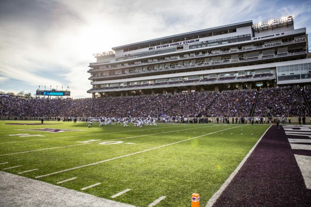 Bill Snyder Stadium, previously KSU Stadium, is the home to the Wildcat football team. (Archive Photo by Logan Wassall | Collegian Media Group)