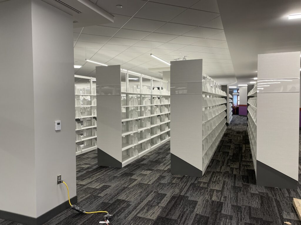 Shelves on the fifth floor of Hale Library will house part of the Special Collections. (Bailey Britton | Collegian Media Group)