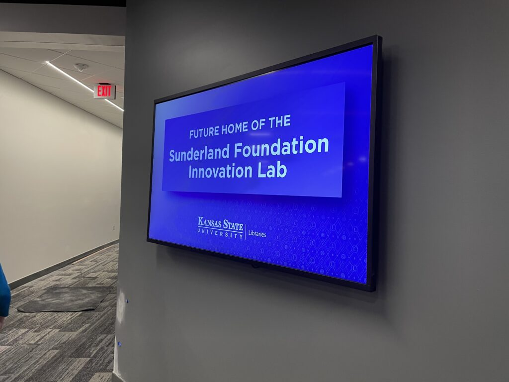 The Sunderland Foundation Innovation Lab will open in phases and will fully open by fall 2021. Students can check out technology from the lab. (Bailey Britton | Collegian Media Group)