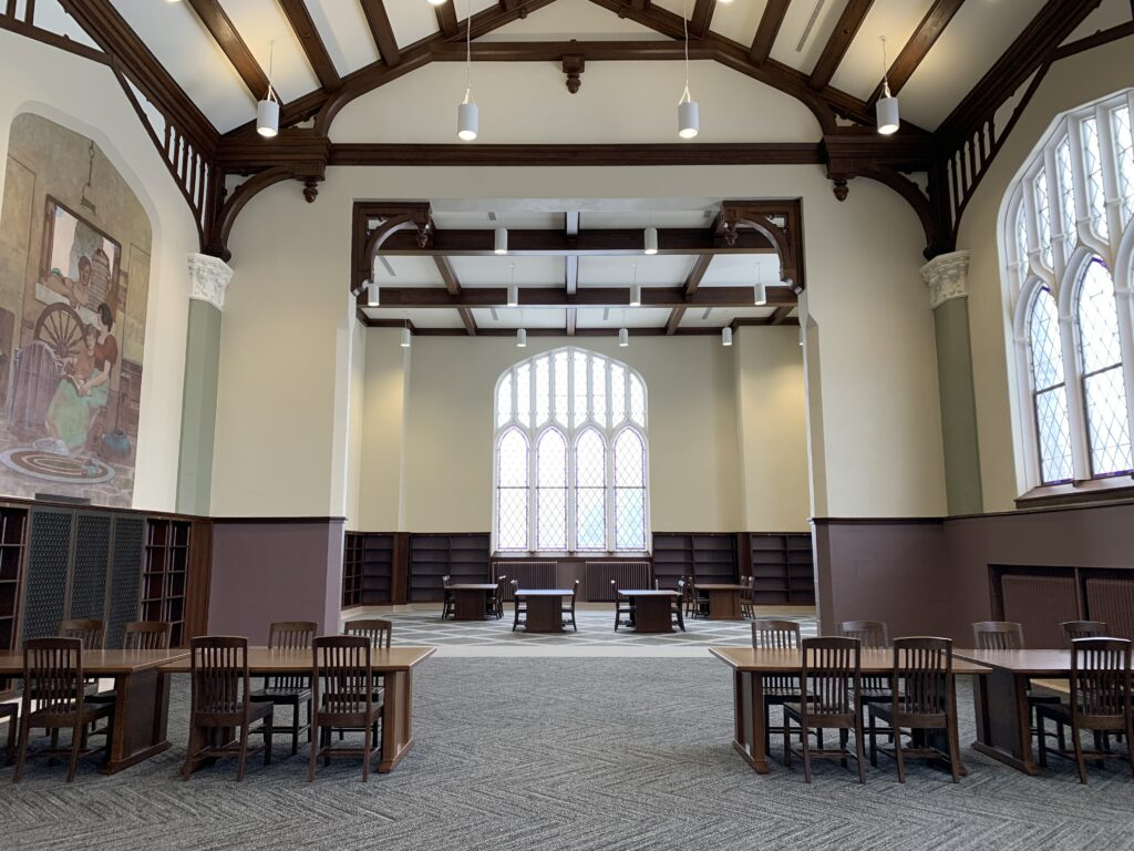 The restored Great Room, also known as the Harry Potter room. (Sean Schaper | Collegian Media Group)