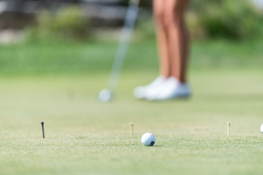 The K-State women's golf team, practices regularly at Colbert Hills Golf Course. (Alex Todd | Collegian Media Group)
