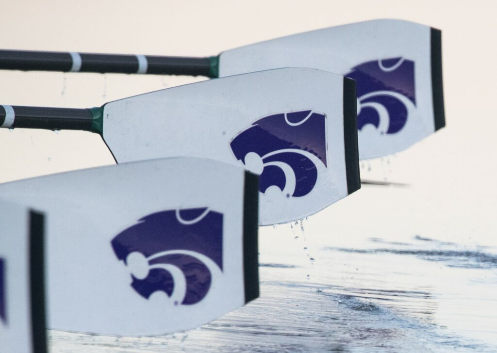 The K-State rowing team practices at Tuttle Creek State Park. (Dalton Wainscott I Collegian Media Group)