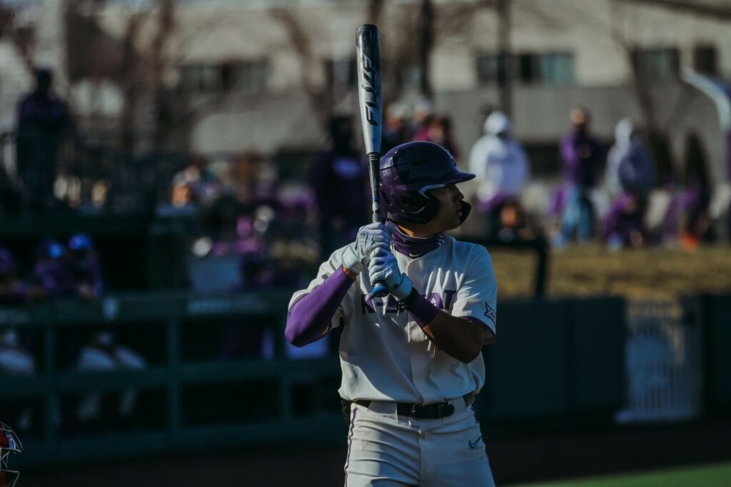 The K-State baseball team competes against New Mexico on March 20, 2021. (Sophie Osborn | Collegian Media Group.)